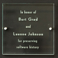 Burt and Luanne Plaque